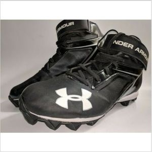 Under Armour Crusher Football Cleats Black white